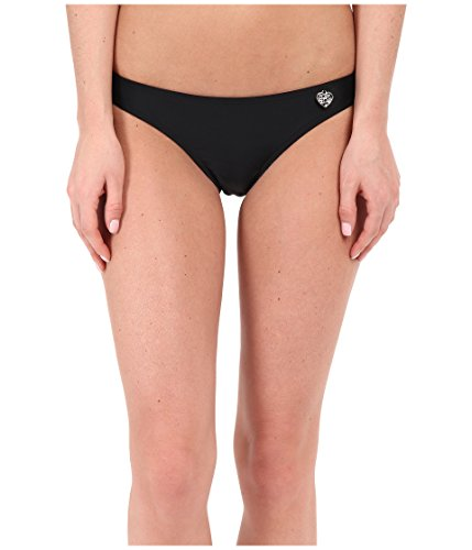Body Glove Women's Basic Solid Fuller Coverage Bikini Bottom Swimsuit, Smoothies Black, Large (Cheeky Bikini Bottoms And Top)