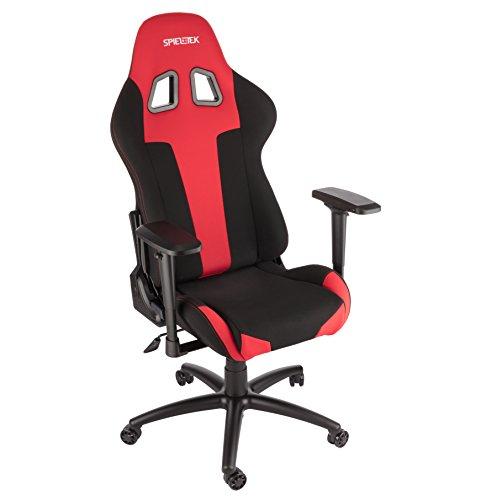 Spieltek Berserker Gaming Chair V2 (Fabric, Red) Spieltek