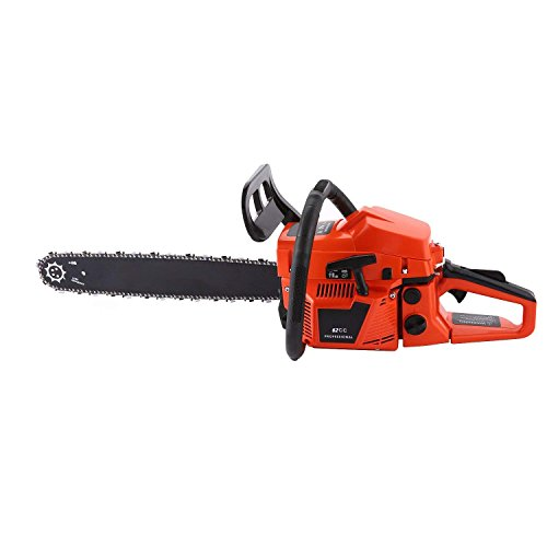Petrol Cylinder - 62CC 4 HP 20 inch Chain Saw Petrol Chainsaws 2 Strokes Single Cylinder Gasoline Engine (62cc-Orange)