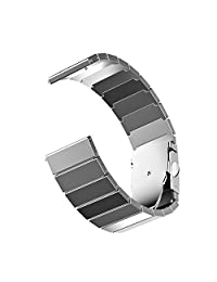 Fitbit Blaze Band, JETech Stailess Steel Bracelet Band Strap for Fitbit Blaze Smart Fitness Watch - for Both Large and Small Size - Silver