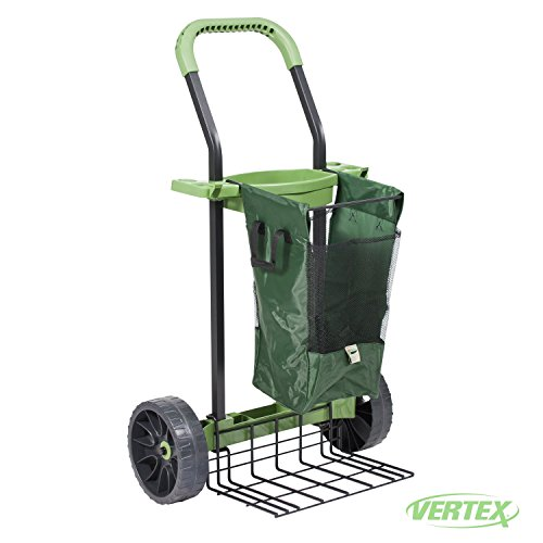 Super-Duty Yard & Garden Project Cart By Vertex With Never Flat Tires & 100 Lb. Capacity Lift Plate - Made In USA - Model SD380 by Vertex