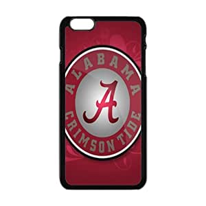 """NCAA Alabama Crimson Tide Print Black Case With Hard Shell Cover for Apple iPhone 6 Plus 5.5"""""""