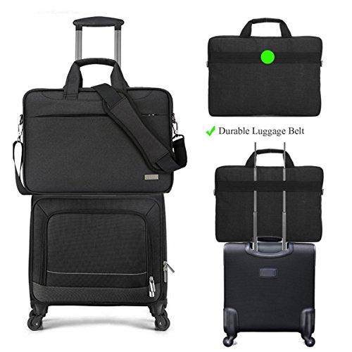 LEDMOMO 15,6 Zoll Laptop Schultertasche Ärmelabdeckung Tragetasche Tasche für MacBook Air Pro Notebook Handtasche (schwarz)