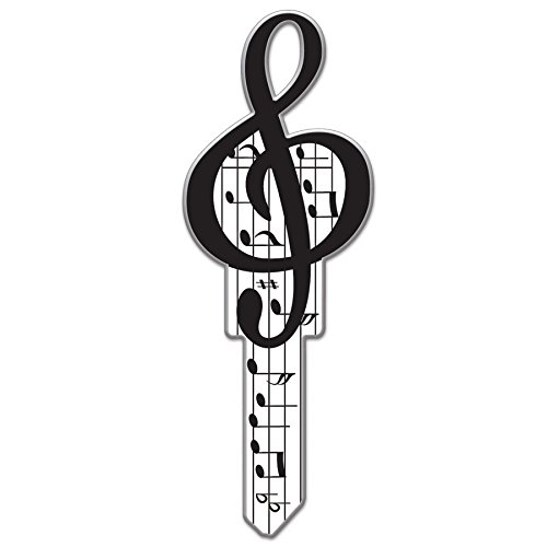 Houses Line (Lucky Line Key Shapes, MUSIC, House Key Blank, KW1/11, 1 Key (B125K))