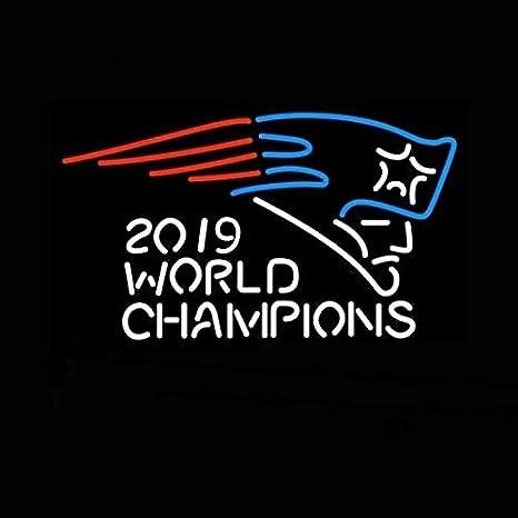 Amazon.com: Letrero de neón para campeones del mundo 2019 de ...