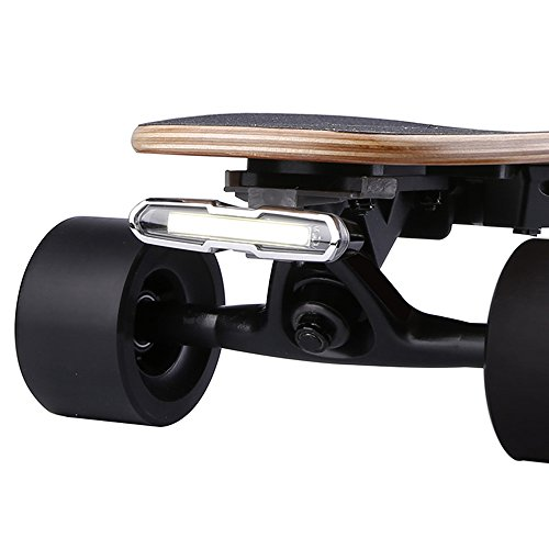 WONDERHOO Skateboard Headlights or Taillights - USB Rechargable Safety Lights Waterproof LED Flashing Light for Electric Longboard Helmets and Any Bikes]()