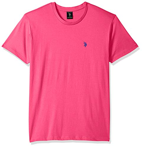 U.S. Polo Assn. Men's Crew Neck Small Pony T-Shirt, Caribbean Pink, XL