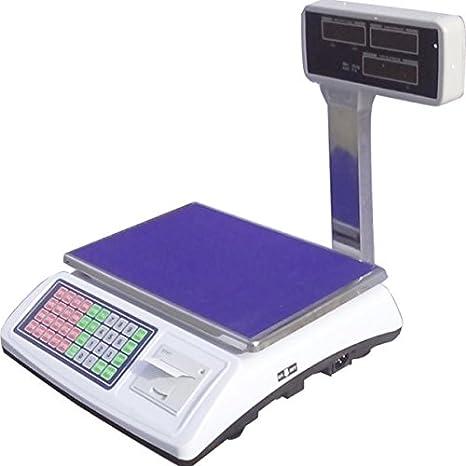 Bilancia Elettronica Con Scontrino Con Braccio Lcd Max 50 Kg Digitale Display Anche Lato Cliente