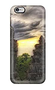 7182037K96800962 Iphone 6 Plus Case Cover - Slim Fit Tpu Protector Shock Absorbent Case (ancient Asian Temples)