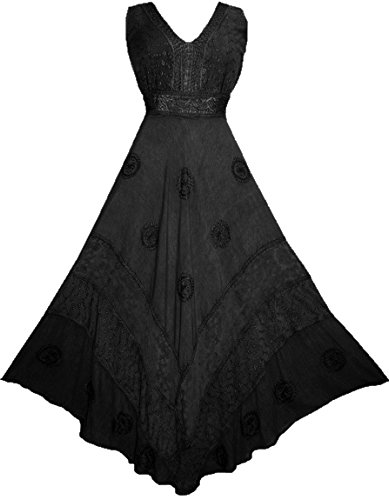 b7166db6693 Agan Traders 1011 DR Womens Roman Empire Victorian Sleeveless Formal Flare  Long Dress Maxi
