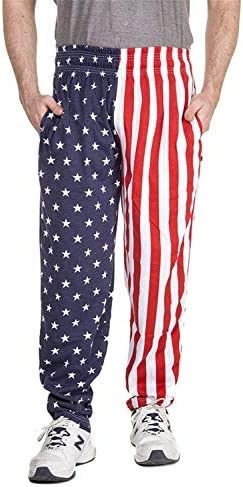Arvilhill Mens 4th of July American Flag Long Pants