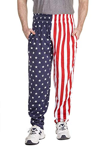 American Flag Workout Pants - Arvilhill American Flag Men July 4th Stars Stripe Party Long Loose Casual Pajama Summer Lounge Pants M