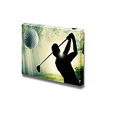 Gorgeous Craft, Golfer Putting a Ball on The Green of a Golf Course, Original Creation