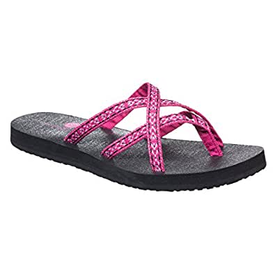 Amazon.com | Riverberry Women's Kalea Criss Cross Flip