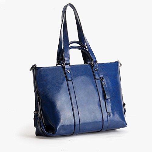 Lady Poignée Sac En Cuir Blue Multicolore Fourre Véritable Top Les Mode Pour à à Femmes Sac Sacoche Main Bandoulière tout WxRcZHHzwn