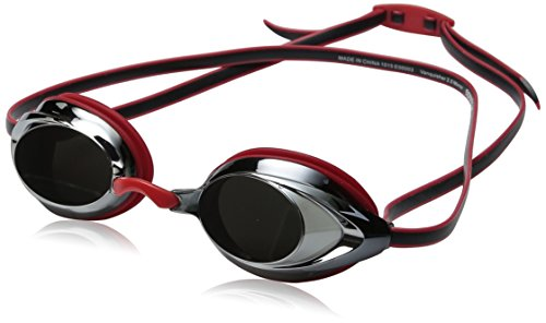Speedo Vanquisher 2.0 Mirrored Swim Goggle, Red, One Size