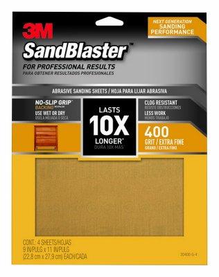 3m sandblaster 20400-g-4 sandpaper 400 9x11in