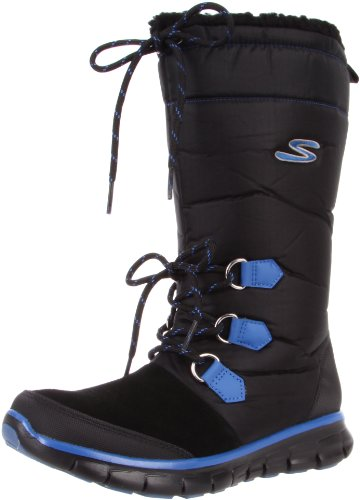 High Women's Knee Skechers Black Flexers Synergy w1ROIO