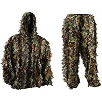 LYGLO Mens 3D Lightweight Hooded Camouflage Ghillie...