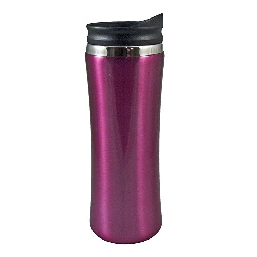 Liquid Logic Laguna Mug: Stainless Steel Outer with PP Liner and Push-On Slider Lid, 14 oz., - Mug Laguna Stainless Steel