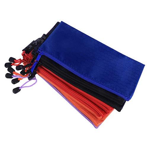 52e34f67ebfb Toyvian Waterproof File Bags File Zipped Folder Organizer Portable Document  Storage Bag (A6 Size Random Color)