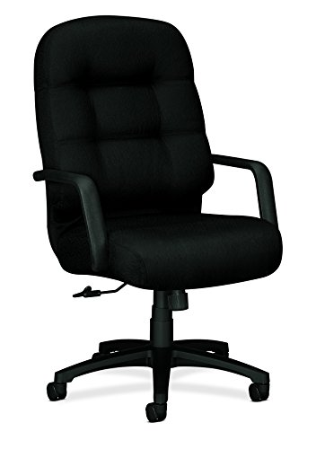 Hon Executive Upholstered Guest Chairs - HON Executive Chair - Pillow-Soft Series High-Back Office Chair, Black (H2091)