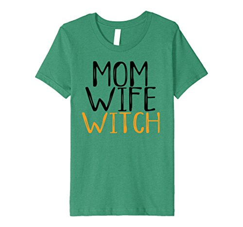 Kids Mom Wife Witch Halloween Costume for Mother Funny Boo Shirt 8 Kelly (Funny Two Guy Halloween Costumes)