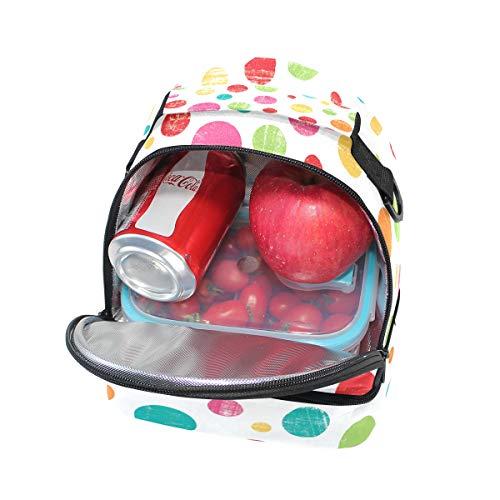 con lunares Bolso doble de correa ajustable de picnic almuerzo para diseño 4UqCxOU