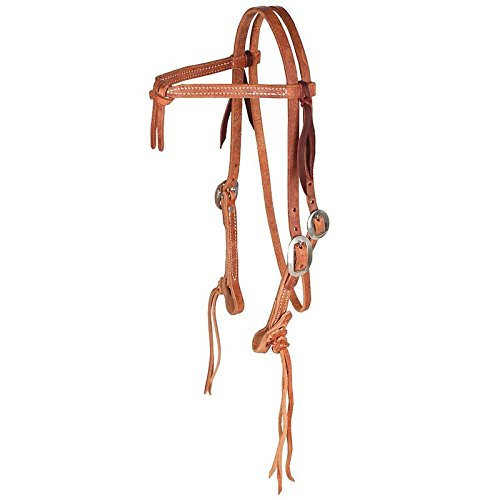 NRS Rattlesnake Knotted Browband Headstall N/A Chestnut ()