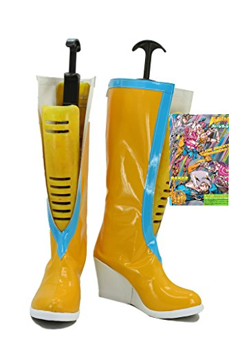 Jojo's Bizarre Adventure 6 Anime Jolyne Kujo Cosplay Shoes Yellow Boots Custom Made - Jolyne Kujo Costume