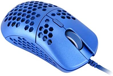 HK Gaming Mira M Ultra Lightweight Honeycomb Shell Wired RGB Gaming Mouse - Up to twelve 000 cpi | 6 Buttons - 63g Only (Mira-M, Metallic Blue)