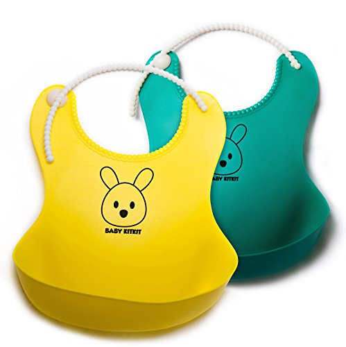 SALE! Silicone Baby Bib Catches All Easy to Clean Soft&Adjus