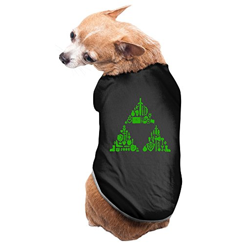 Bekey Cute Zelda Triforce Items Boys Pet Dog Cat Vest For Small And Medium Dogs And Cats Black Size (Cute Easy Costumes)
