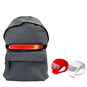 Iqualtech Backpack Red Led Bike Light Universal Fit For