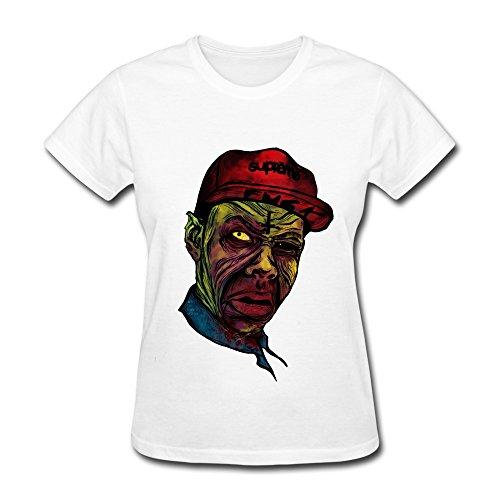 RZF Women's Tyler The Creator Zombie T-Shirt-S White