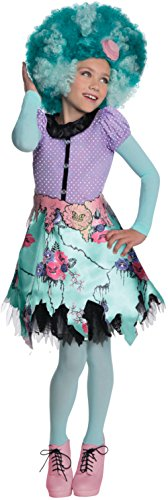Girl Swamp Monster Costume (Girl's Monster High Honey Swamp Costume And Wig Bundle Large 12-14)