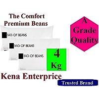 Kena Enterprise Beans Comfort Silky 4 Kg Beans for Bean Bag Filling/Refill/Fillers (Standard Size, White)
