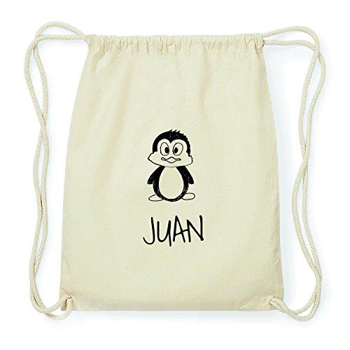 JOllipets JUAN Hipster Turnbeutel Tasche Rucksack aus Baumwolle Design: Pinguin