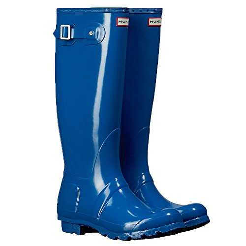 Hunter Orignal Tall Azul Gloss Mujeres Wellington Botas
