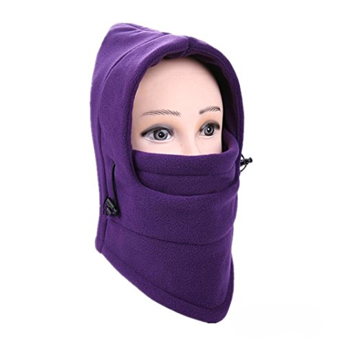 Balaclava Ski Face Mask Windproof Men Women Warm Hood Winter Masks Thermal Fleece Fabric with Breathable Vents for Cold Cycling Skiing Motorcycle Face Hats (I)