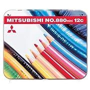 三菱鉛筆 色鉛筆 鉛筆ワイド 880級 ミニサイズ 12色