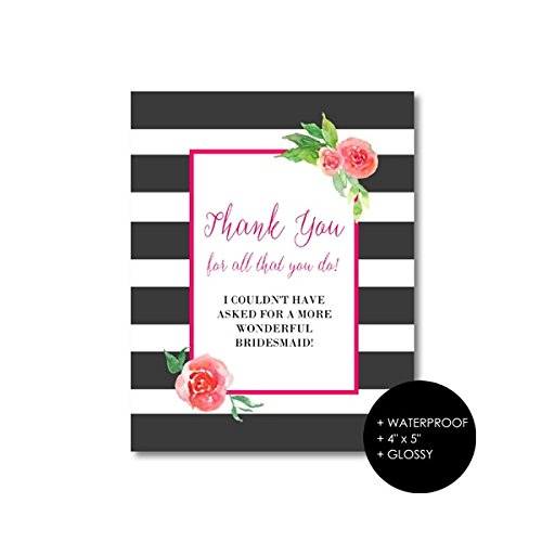 Bridesmaids Thank You Gift Labels by Once Upon Supplies, ...