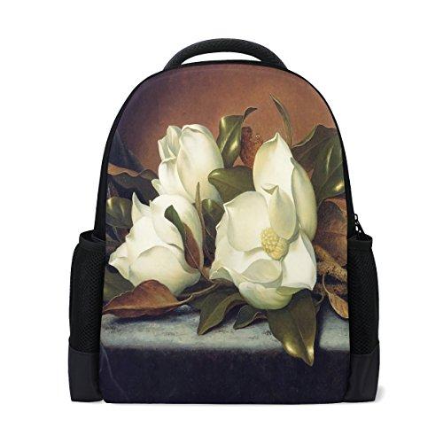 Ethel Ernest Giant Magnolias Custom Casual Backpack School Bag Travel - Magnolias Giant