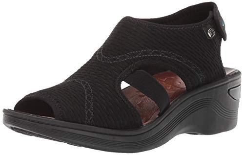 BZees Women's Dream Sandal, Black Mesh, 6 M US