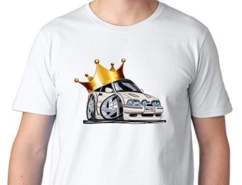 EL REY OF Corona Bordada cuenta con una Coronado Dibujos Koolart Mk4 Ford Escort RS Turbo