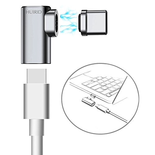 Magnetic USB C Adapter, HUIRID Side Insert Magnetic Micro USB Type C to USB-C Charger Converter (4.3A Fast Charging Max) for MacBook and Other Type C Devices by HUIRID