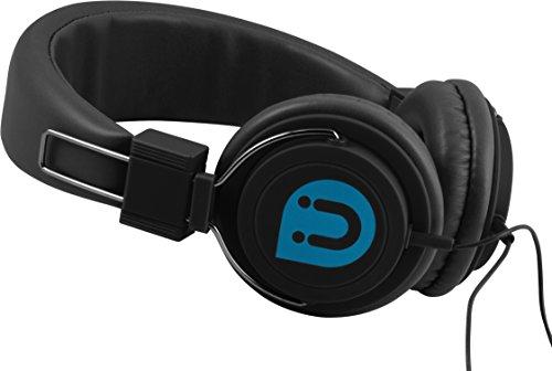 Uber 13132 Headphone, On-Ear Rubberized, Black