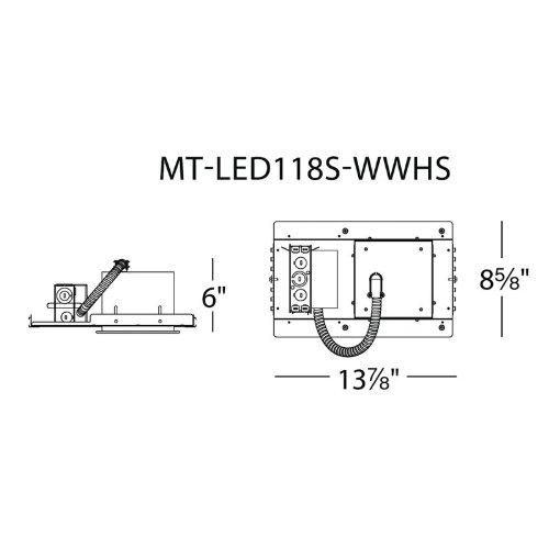 WAC Lighting MT-LED118S-CWHSNIC One Light LEDme Multiple Spot, 4500K Ledme 1 Light