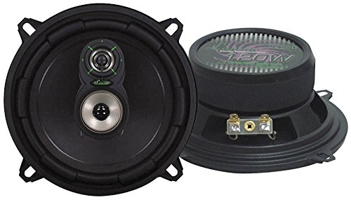 "3 Way Triaxial Speaker System (Lanzar Upgraded VX 5.25"" Pair of 3 Way Car Speaker - Powerful 170 Watts Peak 4 Ohms 30 Oz Magnet Structure 55 - 20KHz Frequency Response w/ 1"" High Voice Coil and Poly-Mica Coated Woofer Cone - VX530)"