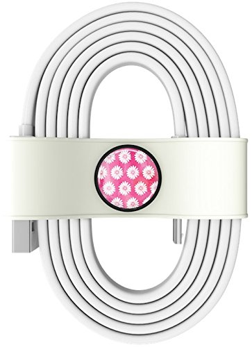 Toddy Tie Charging Cable and Cord Organizer, Princess, 2.5